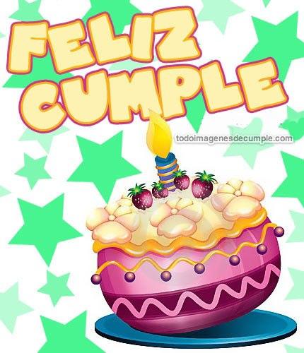 Imágenes de Felíz Cumple con torta - Imágenes de Cumpleaños