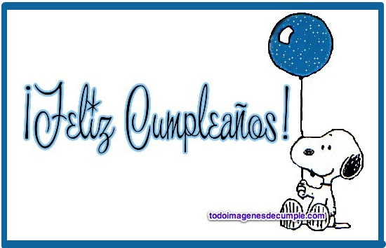 Imágenes de cumpleaños con Snoopy