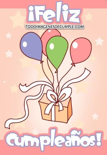 imagenes de feliz cumpleaños con globos