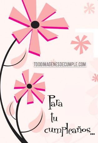 imagenes de feliz cumpleaños con flores