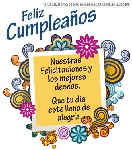 imagenes de feliz cumpleaños con frases de felicitacion
