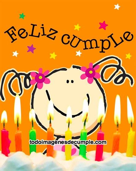 imágenes de feliz cumple con muñequita y velas de cumpleaños
