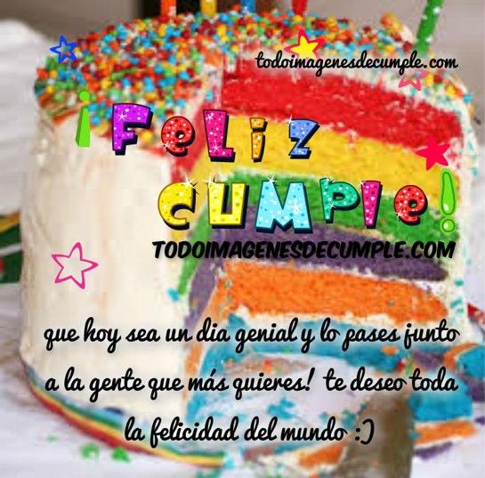 imágenes de cumpleaños con muchos colores y frases