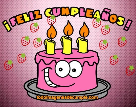 imágenes de cumpleaños con pastel divertido