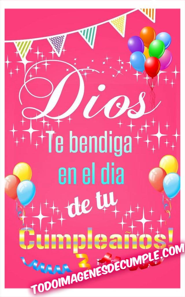 Dios te bendiga en el día de tu cumpleaños