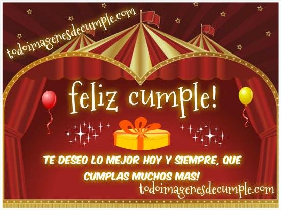 feliz cumpleaños te deseo lo mejor hoy y siempre
