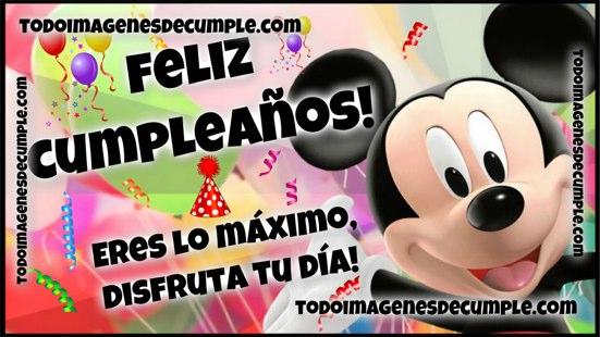 imágenes de feliz cumpleaños mickey