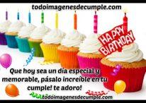 Imágenes de cumpleaños happy birthday con colores y frase