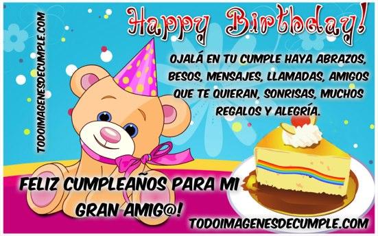 feliz cumpleaños para mi gran amigo