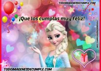 Imágenes de cumpleaños con Frozen