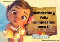 Imágenes de cumpleaños con Moana de Disney