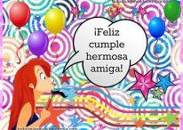 Feliz cumpleaños hermosa amiga!