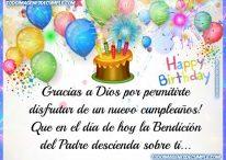 Gracias a Dios por permitirte disfrutar de un nuevo cumpleaños